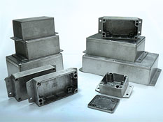 Sealed diecast aluminium enclosures with the flanges G1xxMF